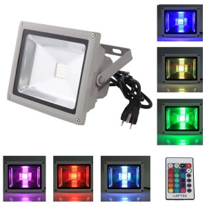 LOFTEK® 20W Waterproof Outdoor Security LED Flood Light
