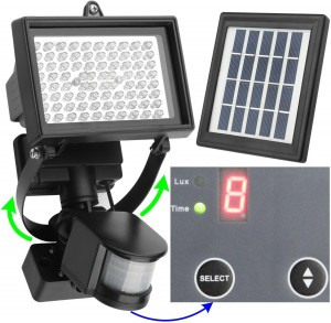 MicroSolar Outdoor Solar Motion Sensor Light
